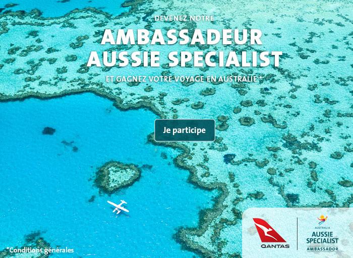Devenez notre AMBASSADEUR AUSSI SPECIALIST et gagnez votre voyage en Australie