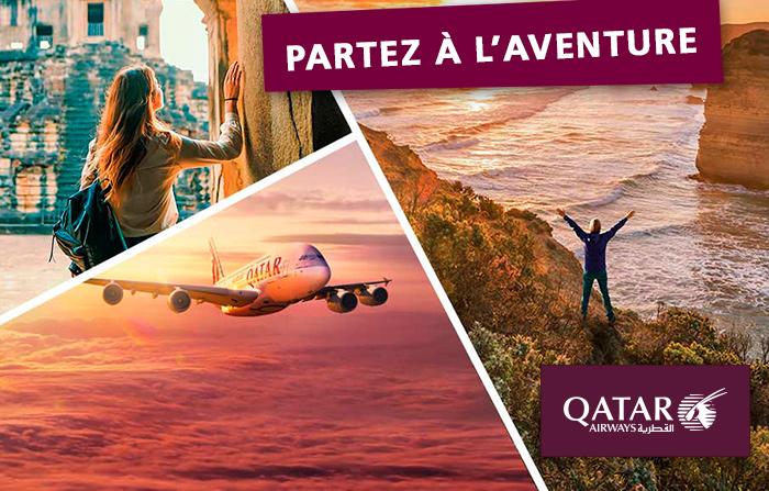 Partez à l'aventure avec Qatar Airways