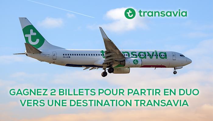Quelques minutes suffisent pour tenter de gagner 2 billets pour partir en duo vers une destination Transavia