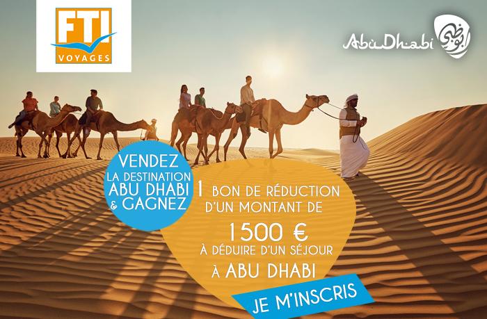 Vendez la destination Abu Dhabi et Gagnez