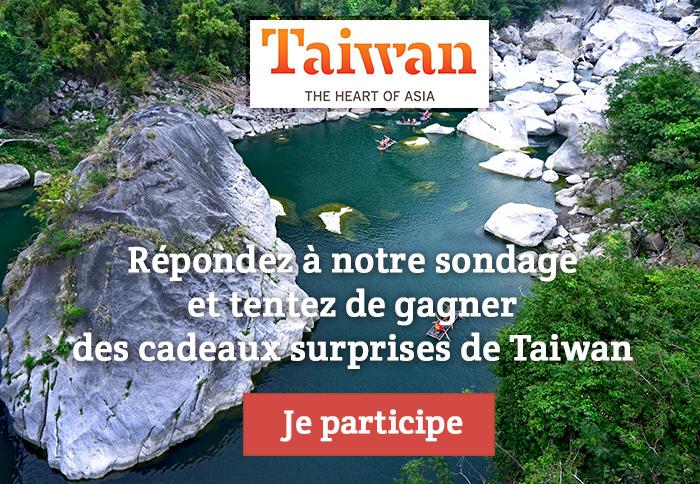 Gagnez des cadeaux surprises de Taiwan